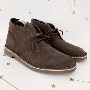 Clarks • Bushacre Brown Suede Chukka Boots New 10